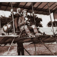 Pioneer aviator Claude Graham-White and Alderman Brighouse