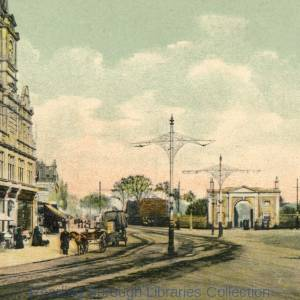 London Road, Reading, looking eastwards from Cemetery Junction