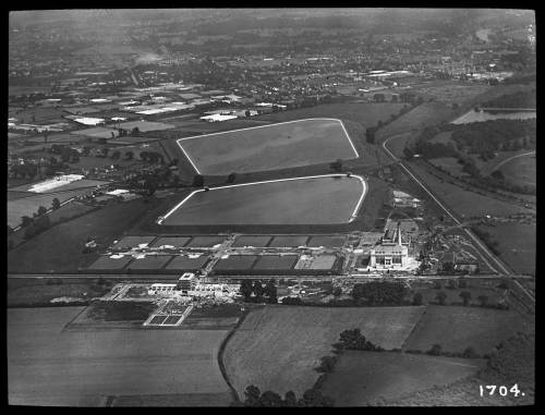 Aerial view of Kempton pumping. Stn. From the west