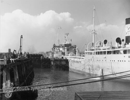 Vessel Moored On River Front, South Shields