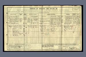 A J Norris 1911 Census Pincott Road