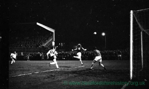 West ham defending v Hereford United, Feb 1972