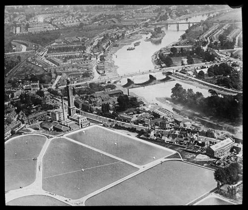 Aerial view of Kew Bridge from the north west