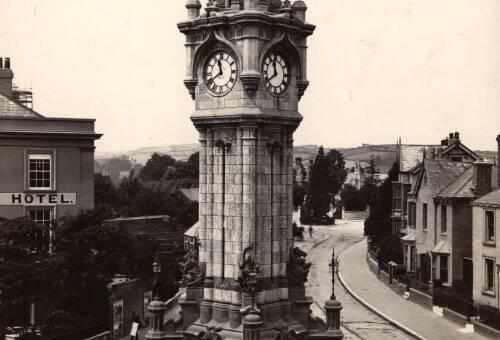 Clock tower, Queen Street, c1910, Exeter