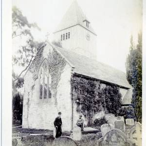 Hampton Bishop church, 1891