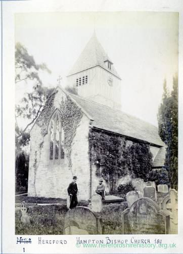 Hampton Bishop church, 1891