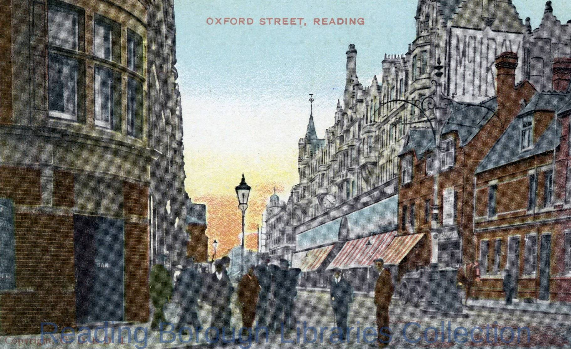Oxford Road, Reading, looking west.