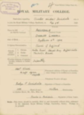 RMC Form 18A Personal Detail Sheets Feb & Aug 1923 Intake - page 4
