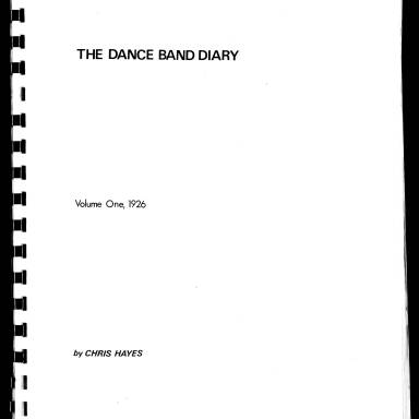 Dance Band Diaries Volume 1 1926
