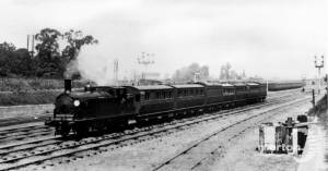 Necropolis funeral train near Wimbledon Station