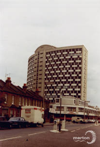London Road: Civic Centre and The Crown Pub, Morden