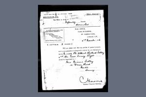 Letter from mother to War Office - Arthur Richard Ashley
