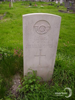 Gravestone of Charles W Gale