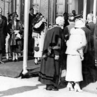 Mayor meeting King George VI and Queen Elizabeth, Bootle, May 1938