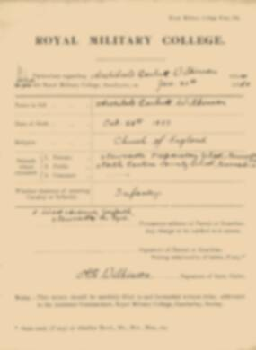 RMC Form 18A Personal Detail Sheets Jan 1915 Intake - page 376