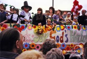 Carnival float built by Mitcham Parish Church