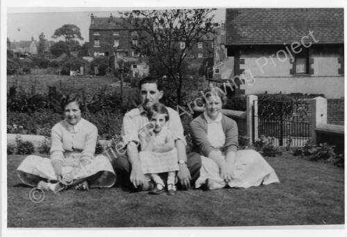 South Road, High Green in the 1950s. The Perry family.