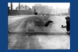 Wimbledon Bridge, Broadway, Wimbledon:  Laying Road Surface