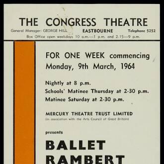 Congress Theatre, Eastbourne, March 1964 - P03