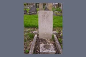 Gravestone of John H Robinson
