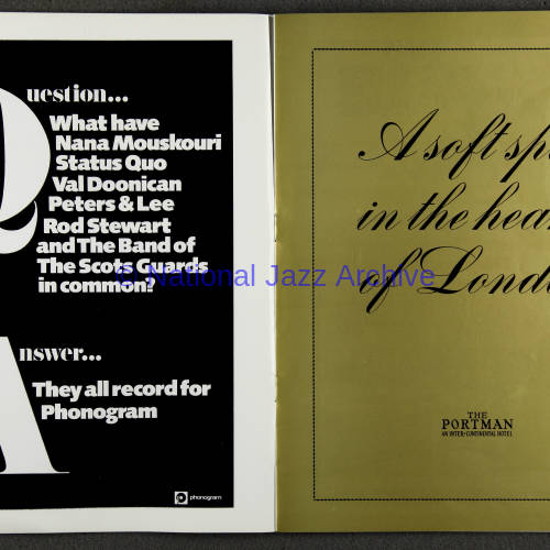 Duke Ellington Orchestra 'Sacred Concert' – Westminster  Abbey 24th   October 1973 010