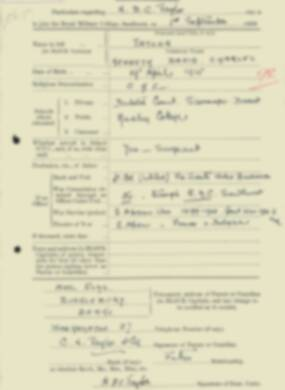 RMC Form 18A Personal Detail Sheets Feb & Sept 1933 Intake - page 289