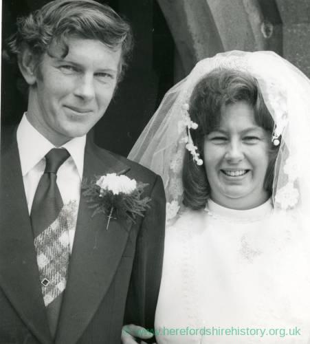 Wedding WIGGILL - MARSHALL, June 20 1974