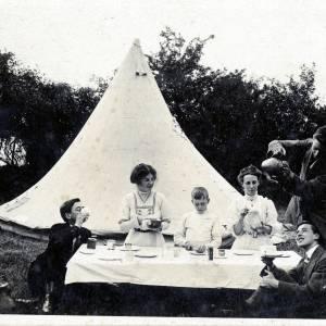 Arthur Challenger camping pre-First World War