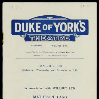 Duke of York's Theatre, London, September 1929