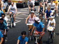 Cycle Fun Run through Mitcham.  London to Brighton
