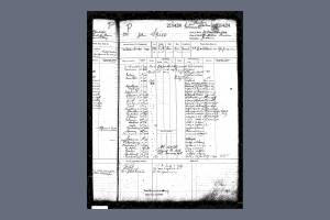 Register of Seaman's Service for Able Seaman John Spice