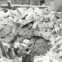 World War 11 unexploded bomb  Charlotte Street.