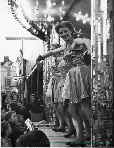 Dancers Commercial Road at Hereford May Fair, 1950s