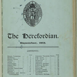 The Herefordian No 74_December 1913