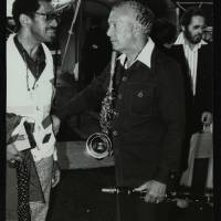 Philly Joe Jones, Earle Warren and Bill Evans (left to right)