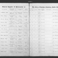 Burial Registers  June 1856 to December 1859