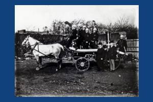 Wimbledon Fire Brigade: Horses and pump