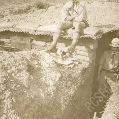Sitting on Top of Trench, Probably a Latrine Hut