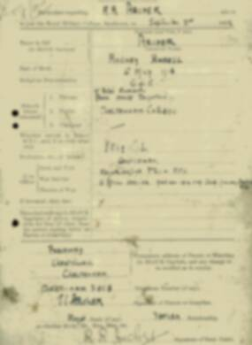 RMC Form 18A Personal Detail Sheets Jan & Sept 1932 Intake - page 3