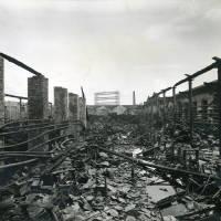 Dundee Works, Canal Street, bomb damage, Blitz