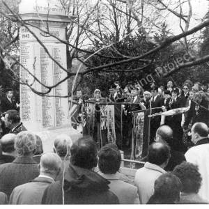Chapeltown Park Remembrance Day Memorial Service 1986