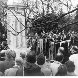 Chapeltown Park Remembrance Day Memorial Service 1986