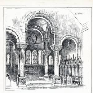 Church, Hoarwithy, interior