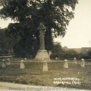 War memorial at Arborfield Cross, 1930.