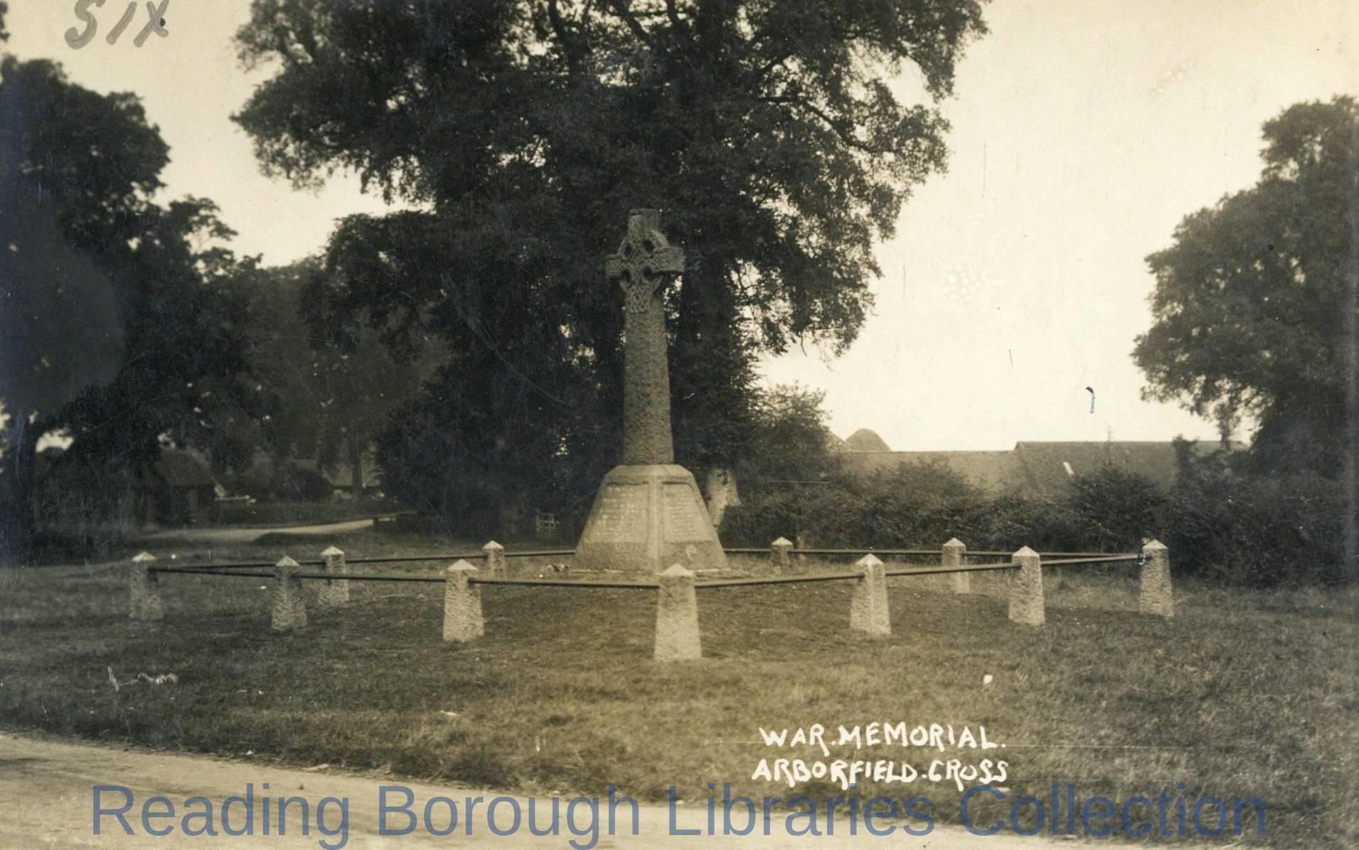 War memorial at Arborfield Cross, 1930.