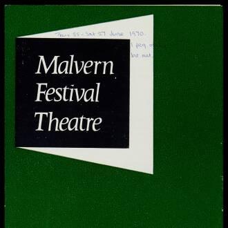 Malvern Festival Theatre, June 1970