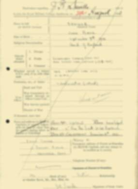 RMC Form 18A Personal Detail Sheets Feb & Sept 1933 Intake - page 279