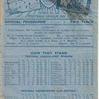 19490312 Official Programme Arsenal Home FCC