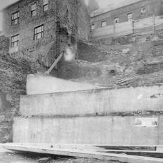 Demolition of ballast hills and houses, South Shields