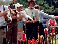 Practising archery, Conservation Fair, Morden Hall Park